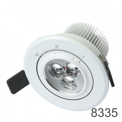 Zoomable downlight 7w